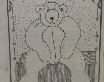 Floppy Bear Pattern Stuffed 3 foot Floppy Bear Design by J Lynn Easy to Sew Bear