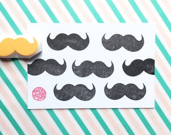 mustache hand carved rubber stamp. boy stamp. birthday wedding scrapbooking. father's day crafts. gift wrapping. gifts for him