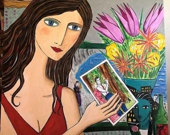 Summer Reading acrylic on canvas