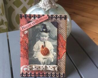 Whimsical Halloween Card - Handmade Halloween Card