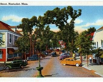 Vintage Nantucket Postcard - Main Street (Unused)