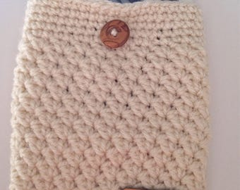 Crochet Tablet Case, E-reader Cover, Crochet Clutch, Computer Case, Device Protector, Tablet Protector, Gadget Protector, New School Year