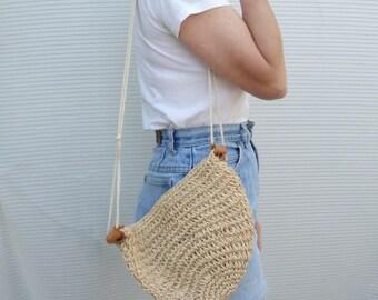 Vintage Wicker Bag Purse
