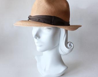 Vintage Woven Straw Summer Panama Hat