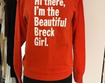 Vintage 1960s Novelty Breck Girl Sweatshirt Deadstock