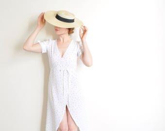 wide brim boater hat . 1970s fancy lady gondolier skimmer sun hat .sale