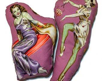 MINI zombie pillow dolls, mini pillows, decorative pillows, zombie dolls.