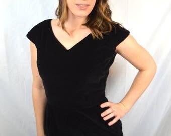 Sweet Vintage 1950s Black Velvet Koret of California Dress