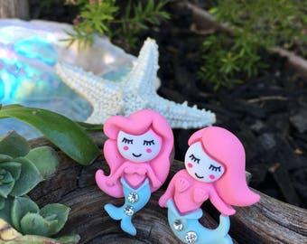 Cute Mermaid Ring, Little Mermaid, Adjustable Ring, Ocean, Beach, Rainbow, Mermaid Costume, Party Favor