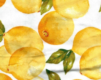 """LEMONS Flannel Fabric, 1 yard x 42"""" inches wide.  Brand new."""