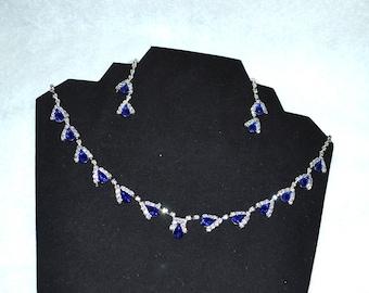Gift Set, Bridal Jewelry Set, Womens Jewelry Set, Blue Jewelry Set, wedding jewelry set, Blue Crystal Jewelry, Sparkly Jewelry Set