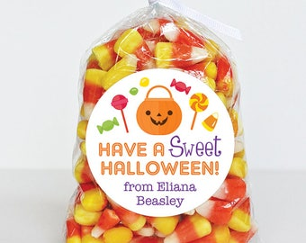 Halloween Stickers - Have A Sweet Halloween - Sheet of 12 or 24
