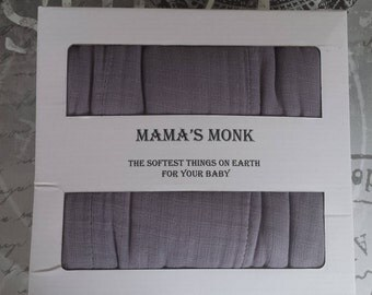 Gray Quilt Throw Cotton Muslin Organic Cotton Bamboo pre washed Dream Blanket 4 layers 2 ply Swaddle Toddler Large Size Kids