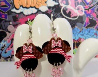 Minnie Mouse Pretty in Pink Pirate Dangle Earrings