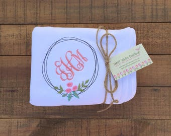 Embroidered Baby Blanket - Personalized Baby Blanket - Baby Gifts Personalized - Baby Girl Clothes - Baby Hat - Baby Shower Gift