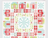 Winterville Quilt Pattern - Christmas House Quilt Pattern - Thimble Blossoms TB 217 - Fat Eighths Friendly - Xmas Town Quilt Pattern