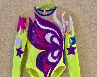 Competition aerobic gymnastic leotard girls 130-140 cm