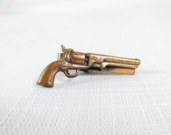 Vintage Copper Revolver Tie Clip
