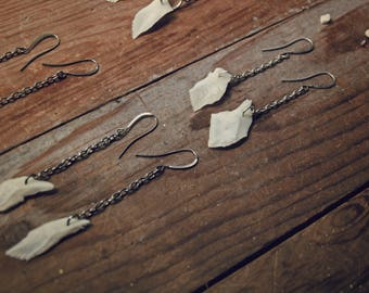 Gar scales // Earrings