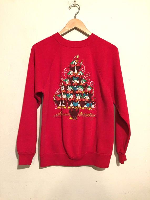 Caroling Penguins Ugly Christmas Sweatshirt