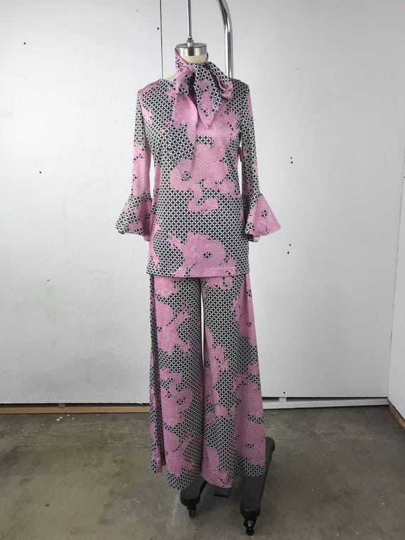 70s Pink Dragons Two Piece Set