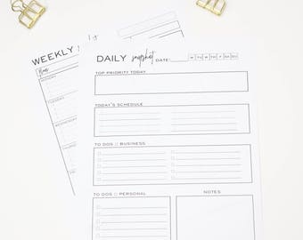 Printable Weekly/ Daily  Planner
