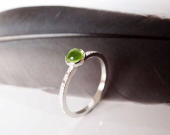 Peridot Ring - Peridot Stacking Ring - Birthstone Ring
