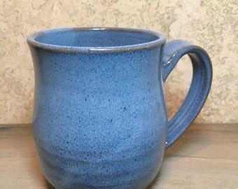 Blue Mug - Handmade Vibrant Blue Stoneware Mug - Ceramic Mug - Pottery Coffee Mug - Blue Mug - Stoneware Mug - Beer Mug - Cocktail Mug