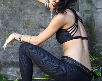 Yoga Bra | FREE SHIPPING | Urban & Festival Fashion | Burning Man | Dance | Sexy Rave Bra | Sexy Top | Soft Cup Bra | Organic Cotton |