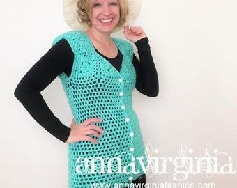 CROCHET PATTERN Motif Vest - PDF Crochet Pattern