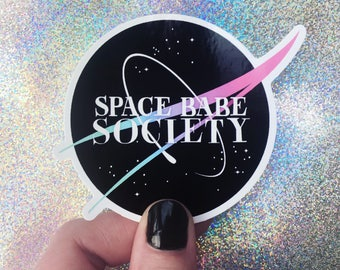 space babe society vinyl sticker