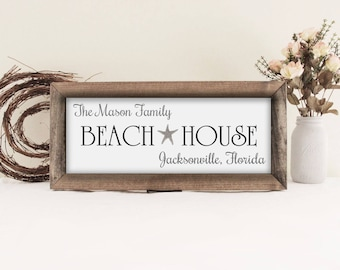 Papa the man the myth the legend sign papa sign grandpa personalized family name beach house sign beach sign beach house decor framed wood sciox Gallery