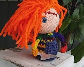 Creepy Doll Horror Doll Child's Play Chucky-inspired Crochet Amigurumi