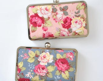 Lovely ROSE garden-Petite box clutch