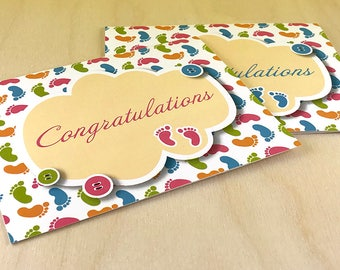 Baby Feet Congratulations Card