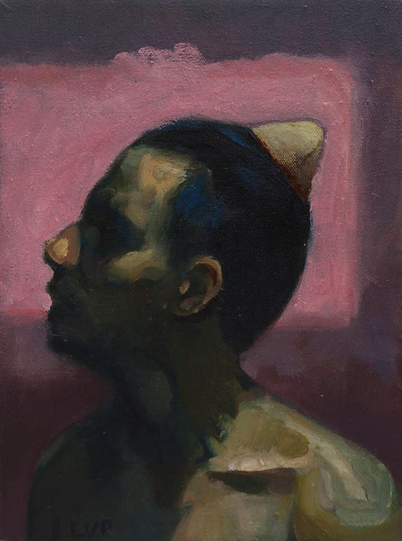 Tooth, 12x9in oil painting
