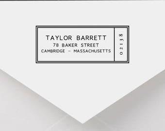 Personalized Return Address Stamp - Modern Address Stamp, Self-Inking Return Address Stamp, Wood Address Stamp, Custom Stamp Style No. 41