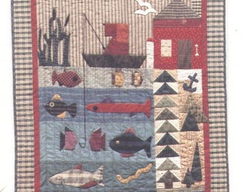 THE ANGLER Quilt Pattern - UNCUT - Q019