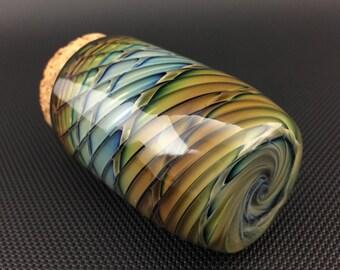 Wrap & Rake Glass Jar // Airtight Cobalt Pocket Jar