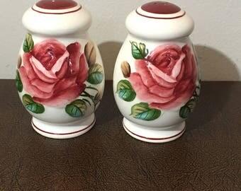 Pair of Americana Rose Salt and Pepper Shakers
