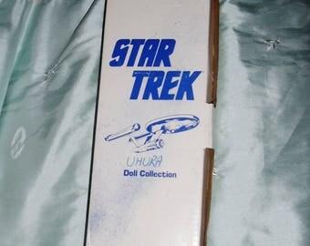 "Very RARE 1977 VINTAGE Star Trek Hamilton, Ernest Uhura Porcelain 14"" Doll, Box, Tag, COA"