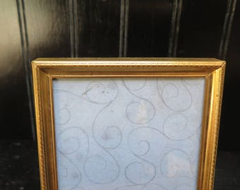 Art Deco 3 x 4  Brass picture Frame