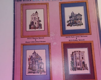 Victorian Home Counted Cross-stitch pattern Leaflet - Rose Sampler