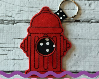 Glittery Fire Hydrant Poop Bag Holder
