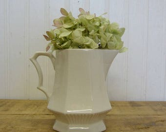 Vintage Independence Ironstone Interpace Japan White Creamer Small Milk Pitcher