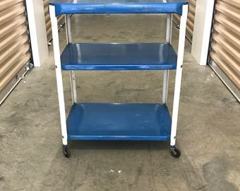 Mid Century Utility Rolling Cart