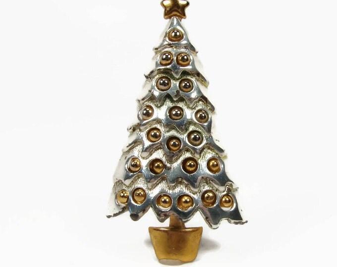 Vintage DANECRAFT Christmas Tree Brooch