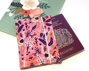 Passport Cover Rifle Paper Co, Travel Organizer, Travel Wallet, Passport Holder, Passport Wallet, Gift for Traveler, Tapestry Rose Birds