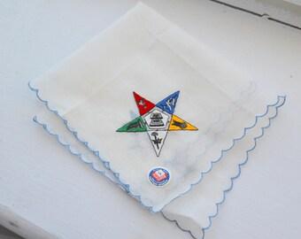 1950s NOS Masonic Eastern Star Hankie