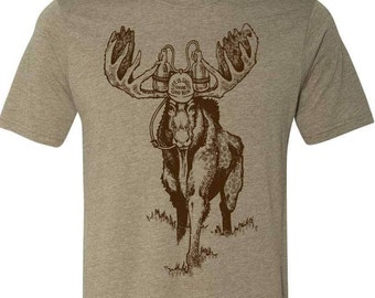 Moose Beer TShirt, Craft Beer Tshirt, Maine Shirt, Spirit Animal Moose TShirt, Beer Geek, Homebrewer, Beer Festival Shirt, Moose Shirt